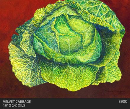 Velvet Cabbage Painting