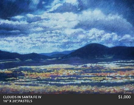 clouds in santa fe IV painting