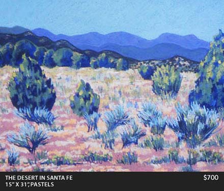 The desert in Santa Fe Painting