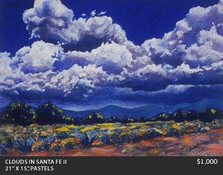 Clouds in Santa Fe II Painting