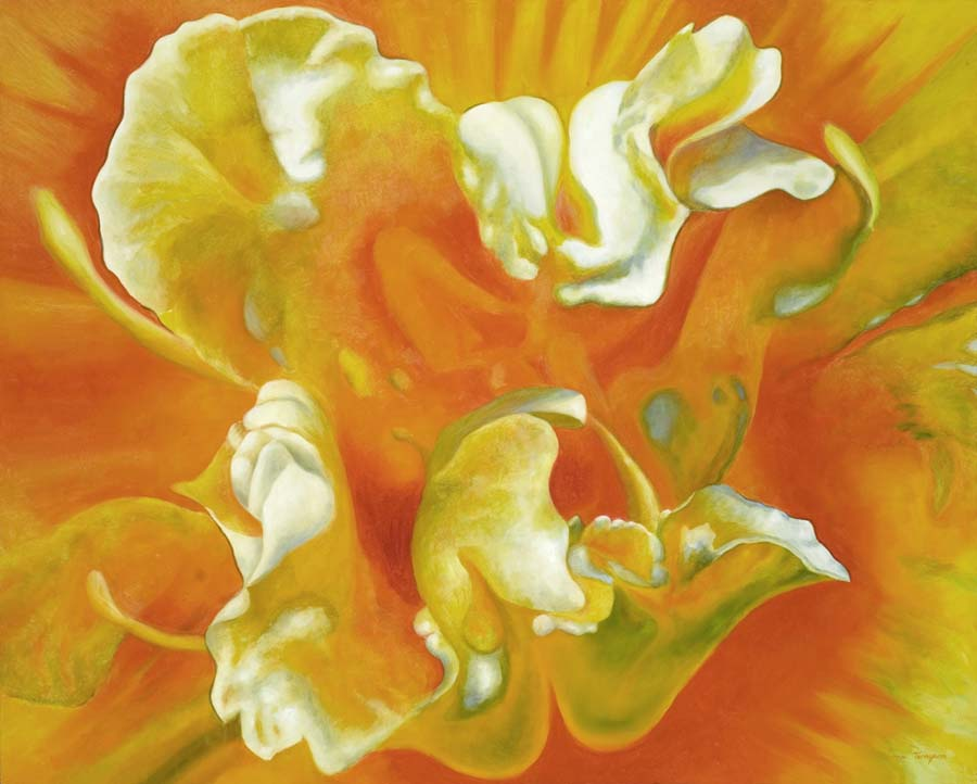 Orange Lily Painting Art Connects Us