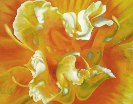 Orange Lily Floral Painting