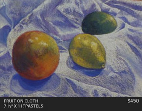Fruit on Cloth Painting