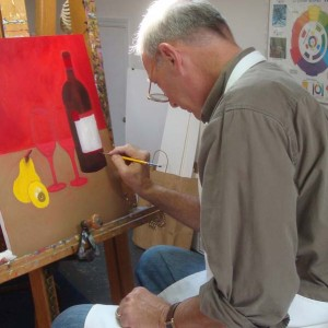 Adult art class painting in charleston sc