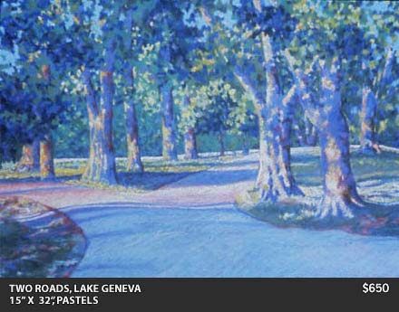 Two Roads Lake Geneva Painting