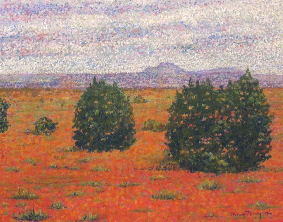 Desert Trees Landscape Painting